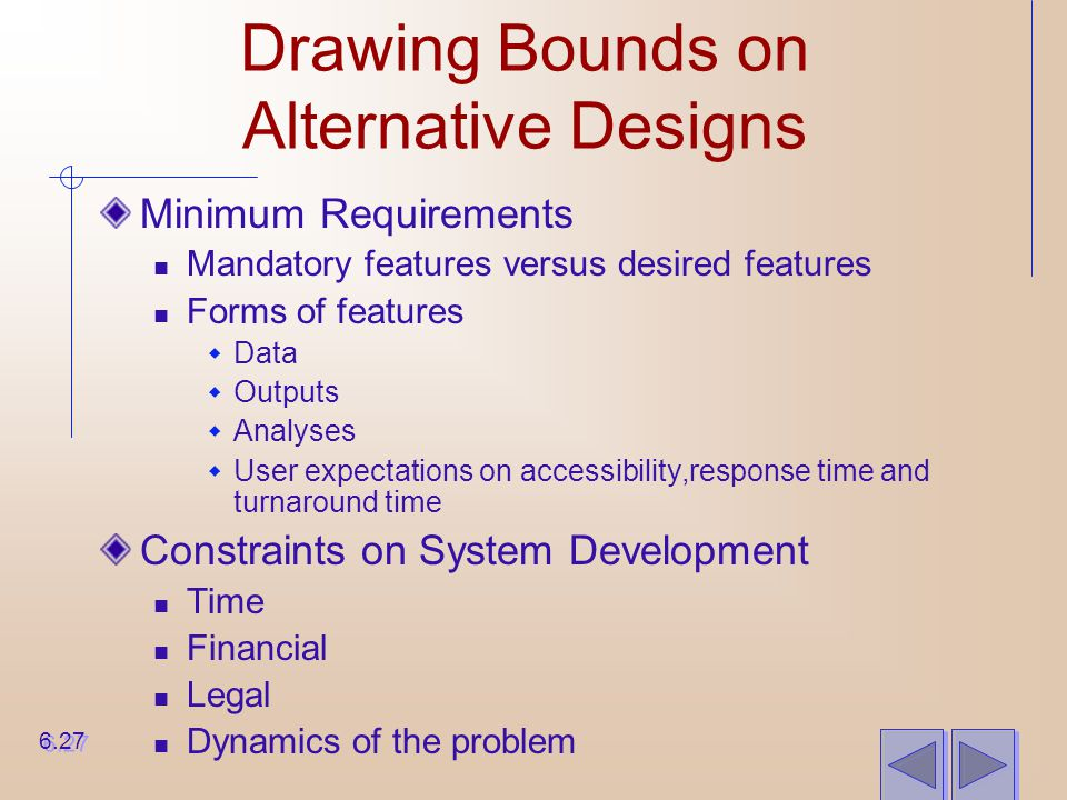 Drawing Bounds on Alternative Designs