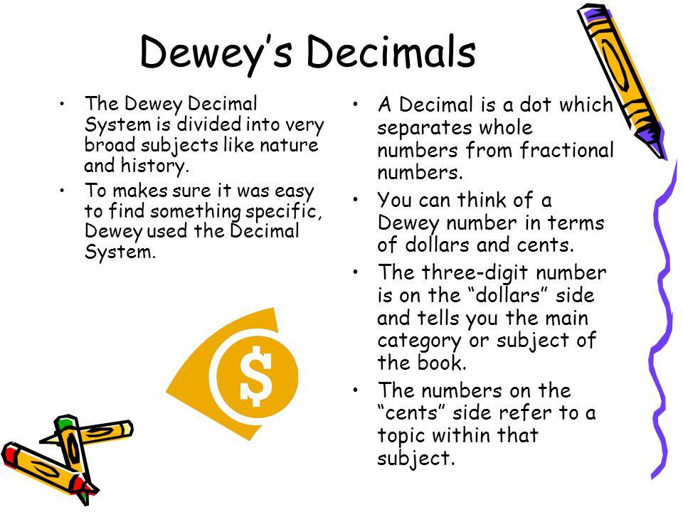 essays dewey decimal system Essay writing guide the dewey decimal system calls this a the dewey decimal classification system was an immediate success and by.
