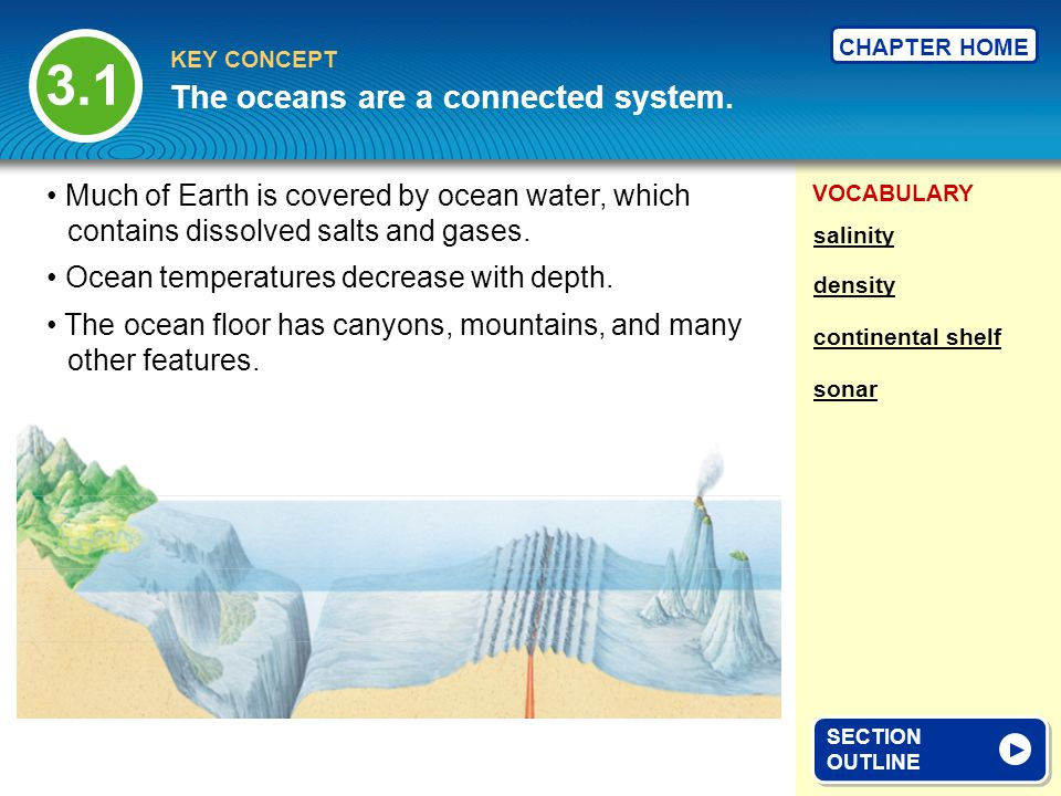 3.1 The oceans are a connected system.