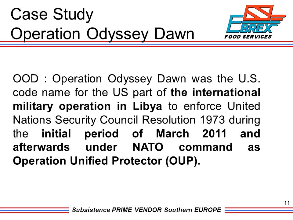 Case Study Operation Odyssey Dawn