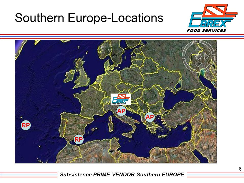 Southern Europe-Locations
