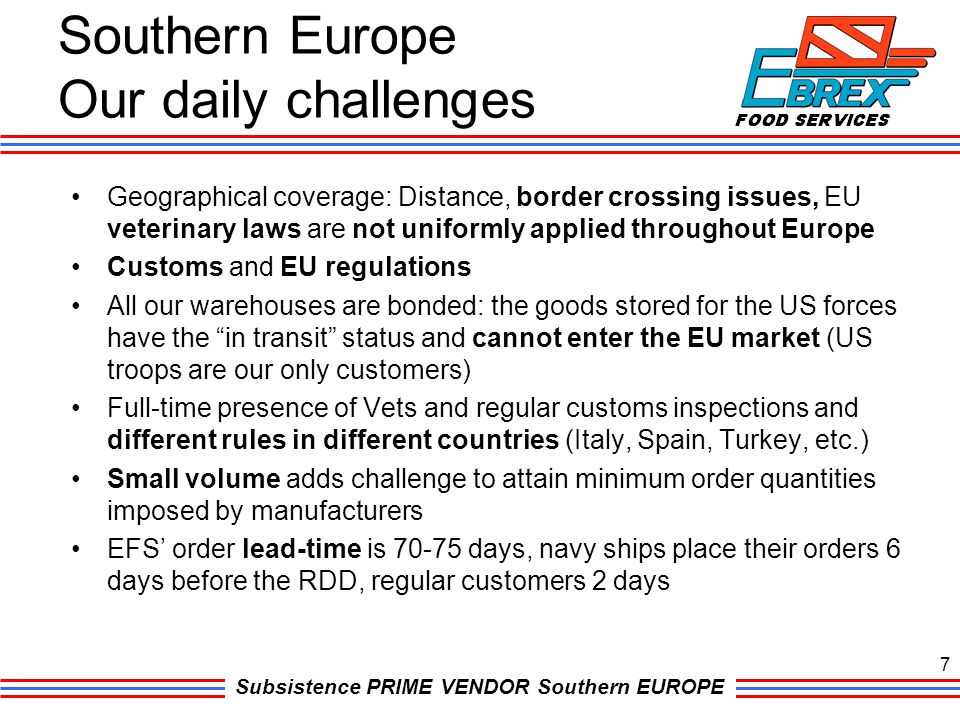 Southern Europe Our daily challenges