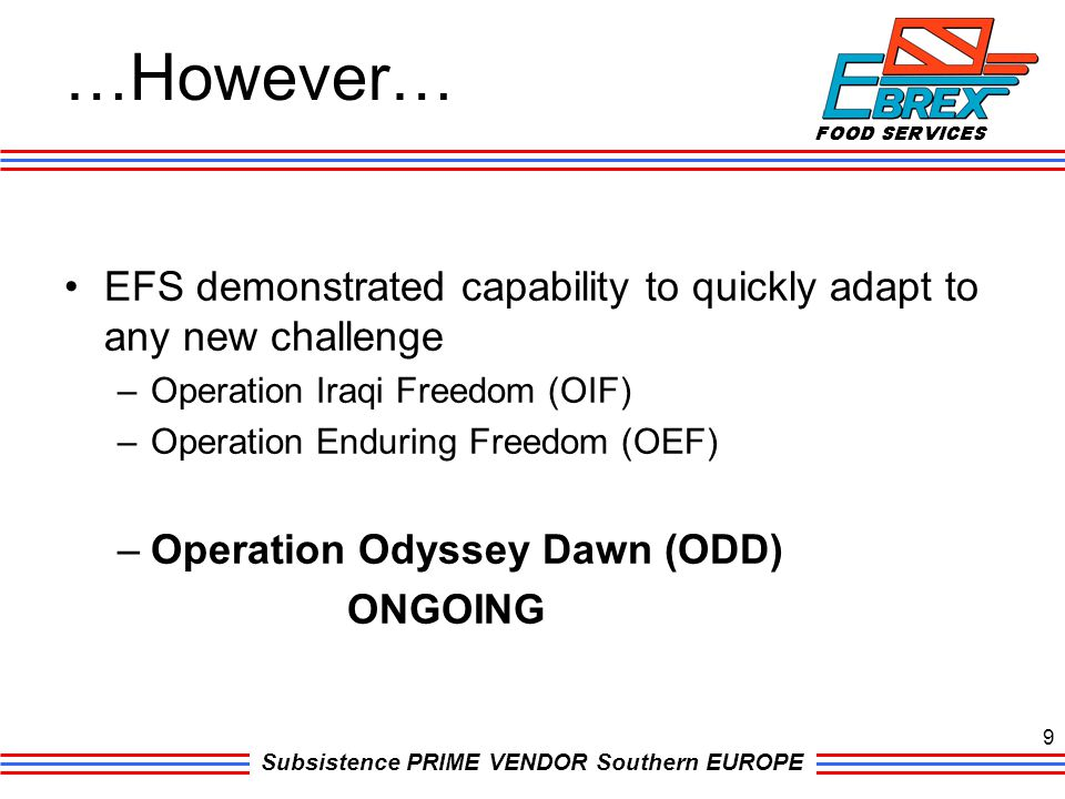…However… EFS demonstrated capability to quickly adapt to any new challenge. Operation Iraqi Freedom (OIF)