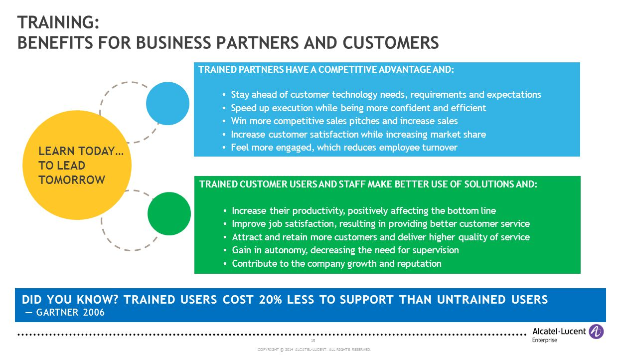 TRAINING: BENEFITS FOR BUSINESS PARTNERS AND CUSTOMERS