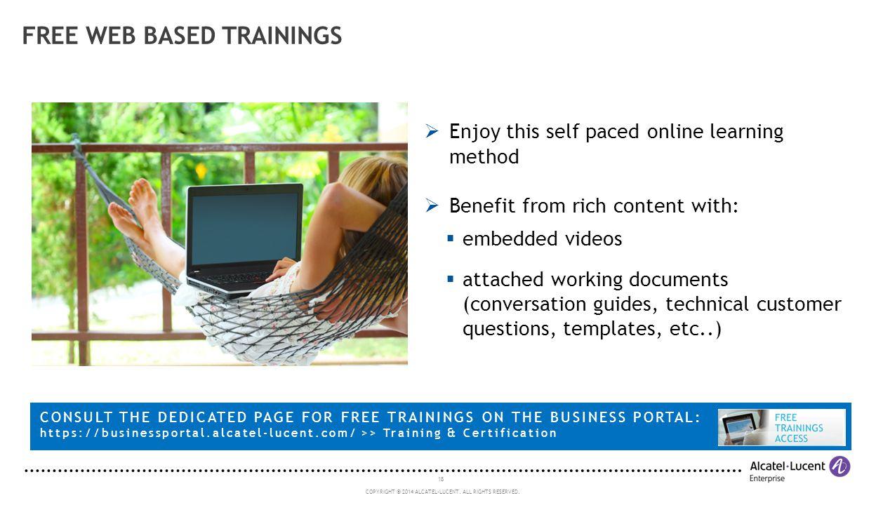 Free web based trainings