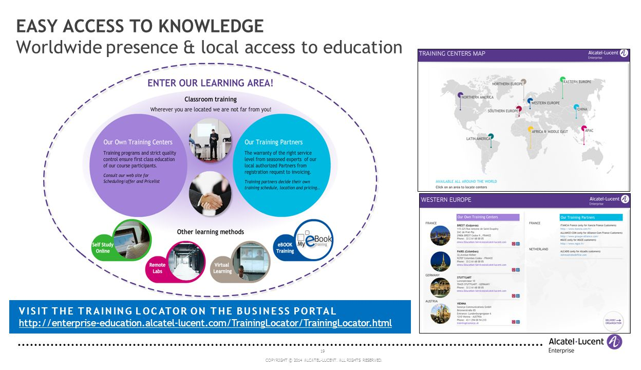 EASY ACCESS TO KNOWLEDGE Worldwide presence & local access to education
