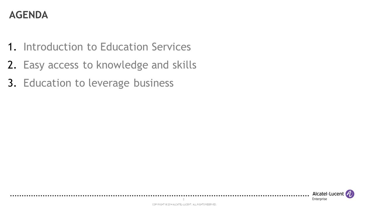 Introduction to Education Services Easy access to knowledge and skills