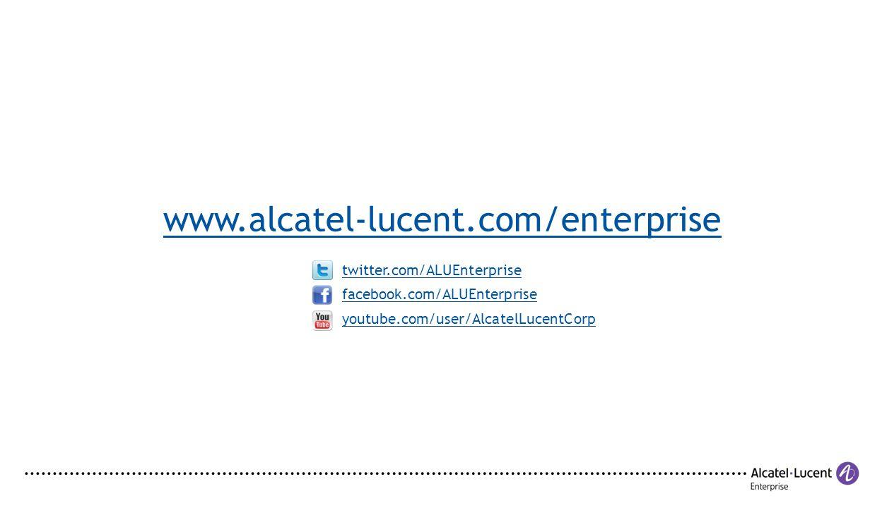 www.alcatel-lucent.com/enterprise twitter.com/ALUEnterprise
