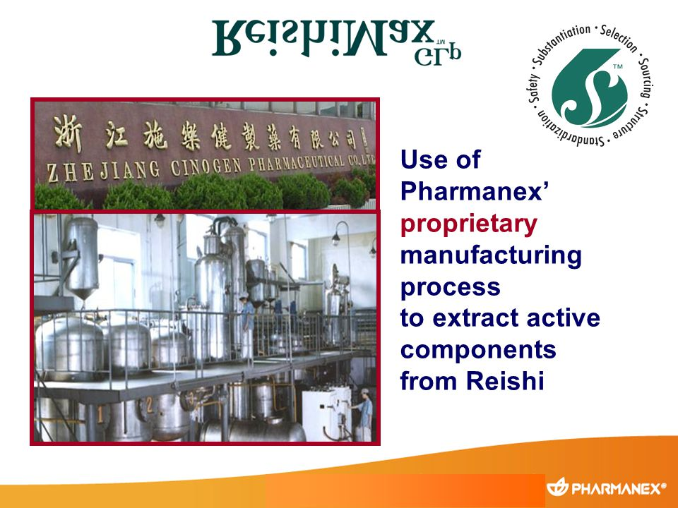 Use of Pharmanex' proprietary manufacturing process