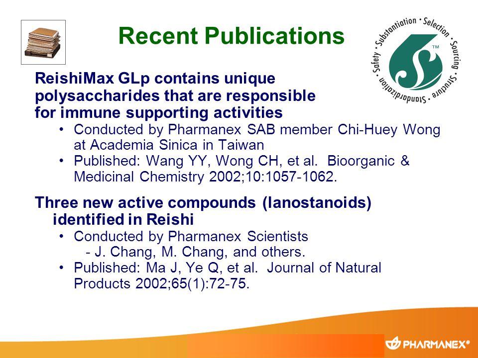 Recent Publications ReishiMax GLp contains unique