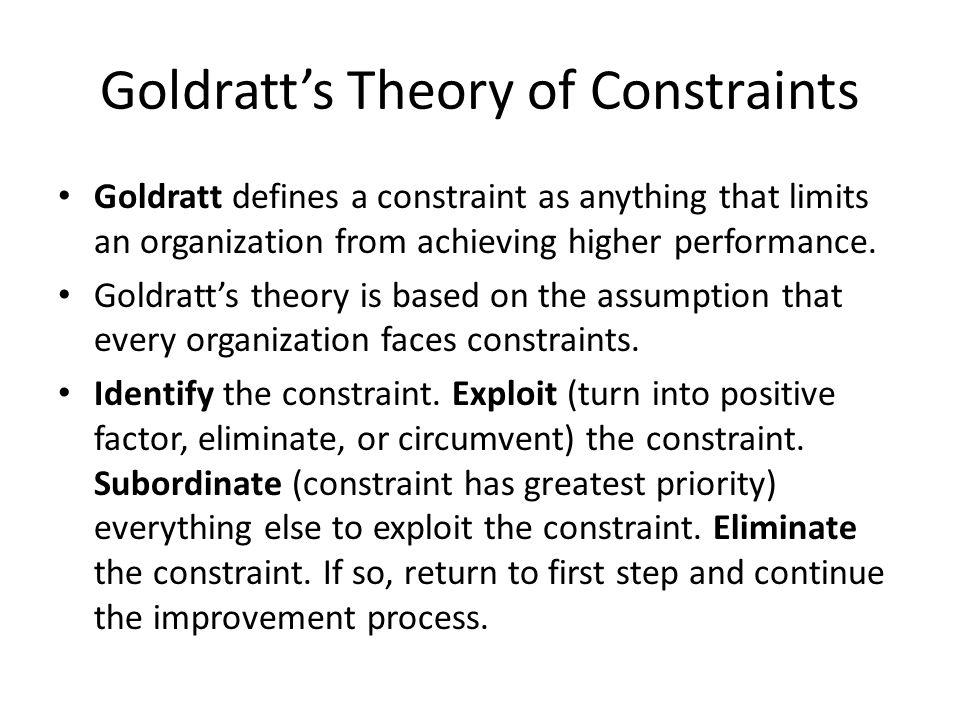 Goldratt's Theory of Constraints
