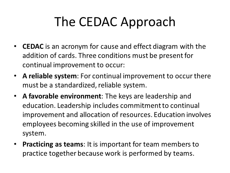 The CEDAC Approach