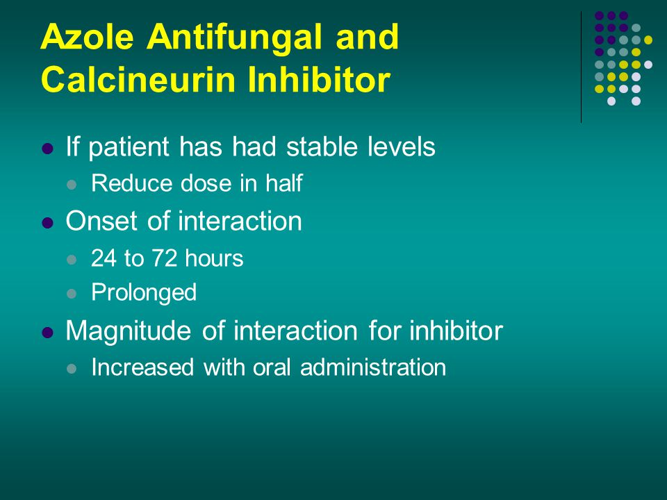 Azole Antifungal and Calcineurin Inhibitor