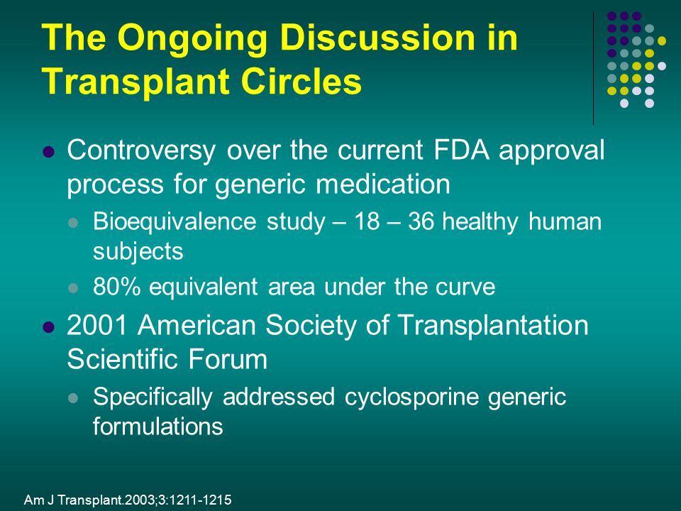 The Ongoing Discussion in Transplant Circles