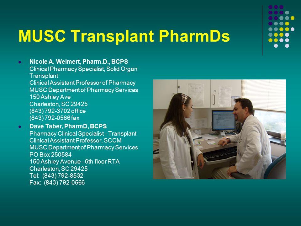 MUSC Transplant PharmDs