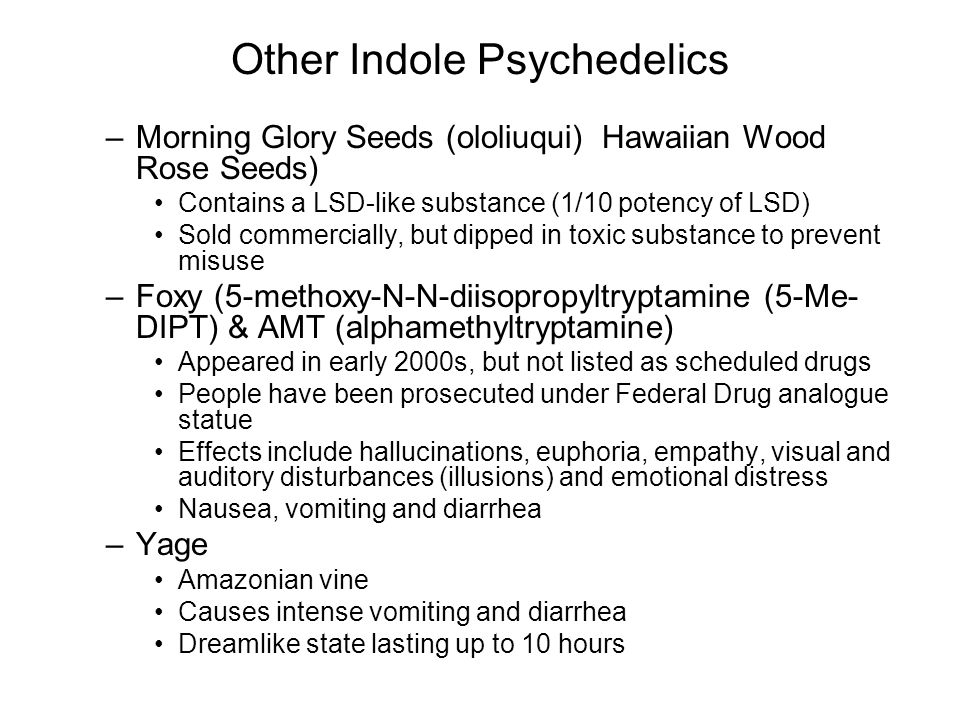 Other Indole Psychedelics