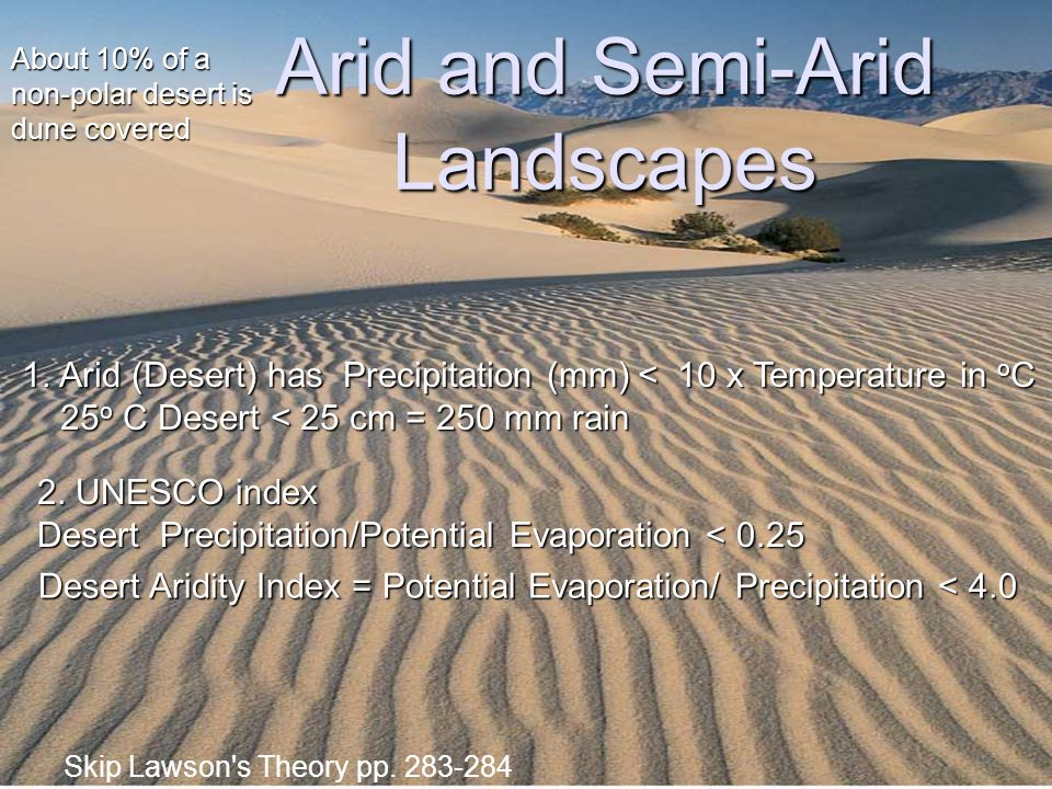 Arid and Semi-Arid Landscapes
