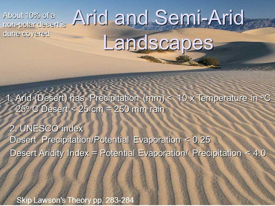 Arid and Semi-Arid Landscapes