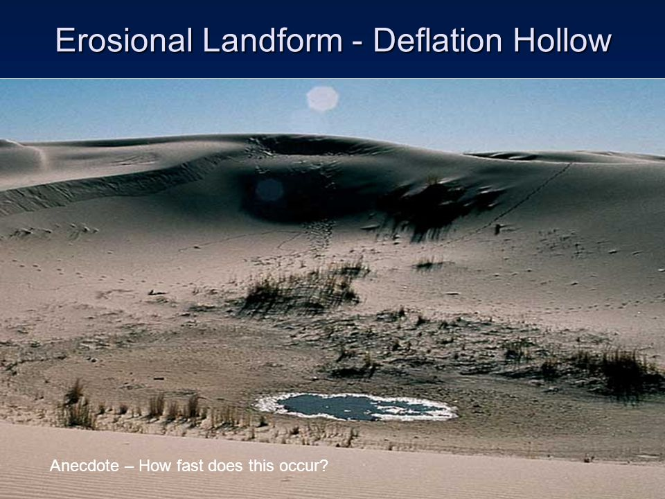 Erosional Landform - Deflation Hollow