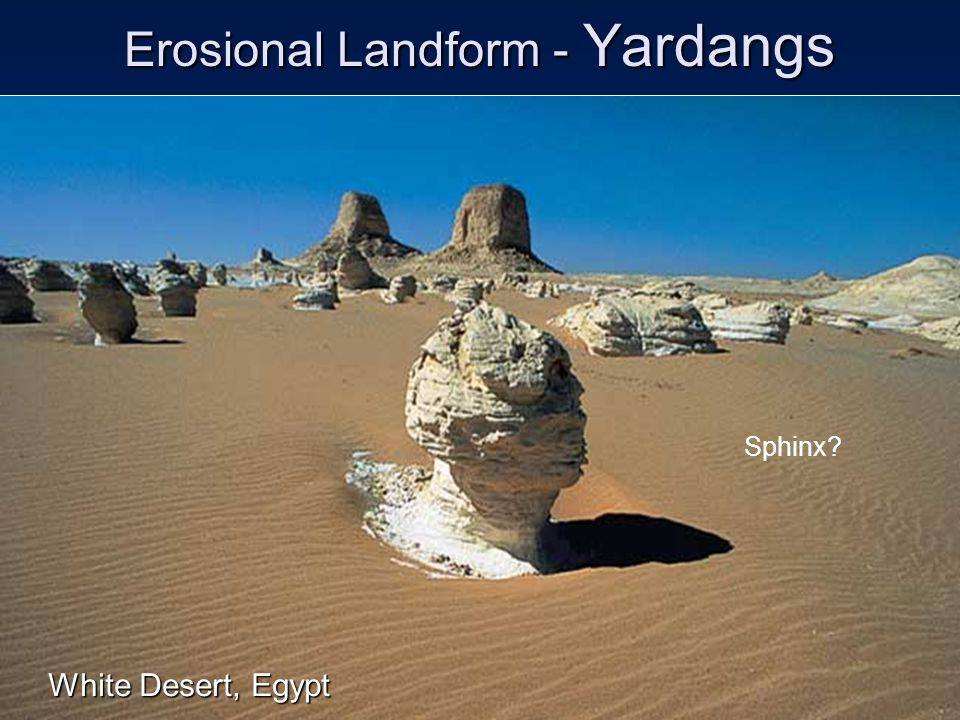 Erosional Landform - Yardangs