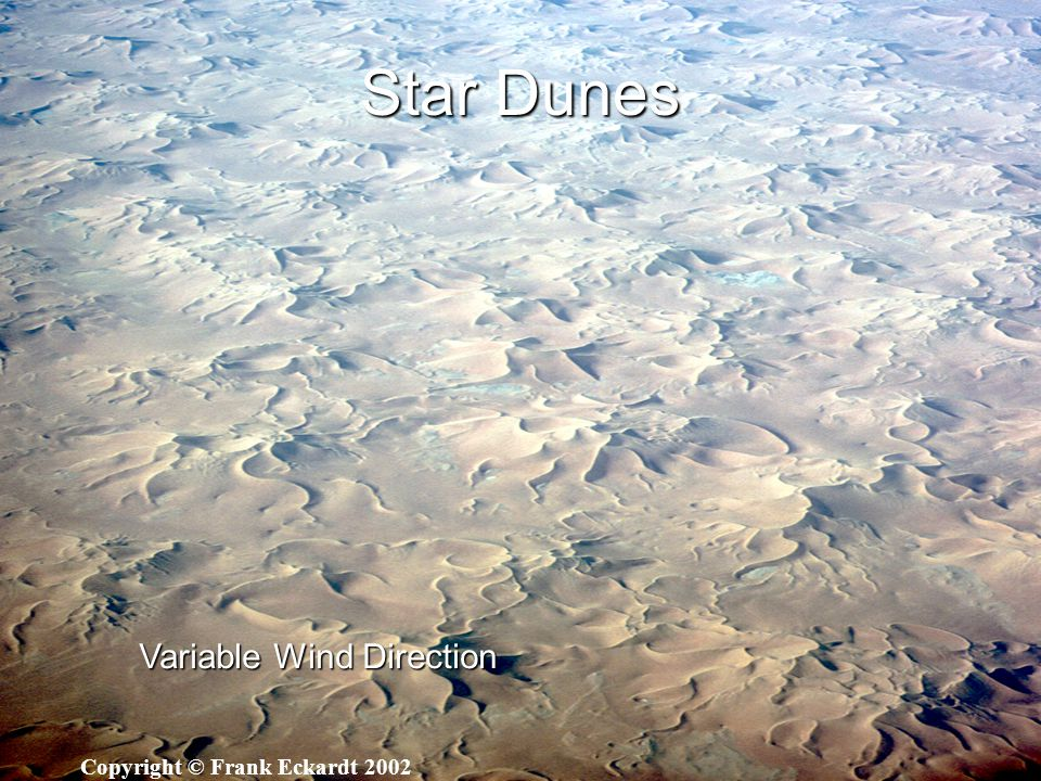 Star Dunes Variable Wind Direction Copyright © Frank Eckardt 2002