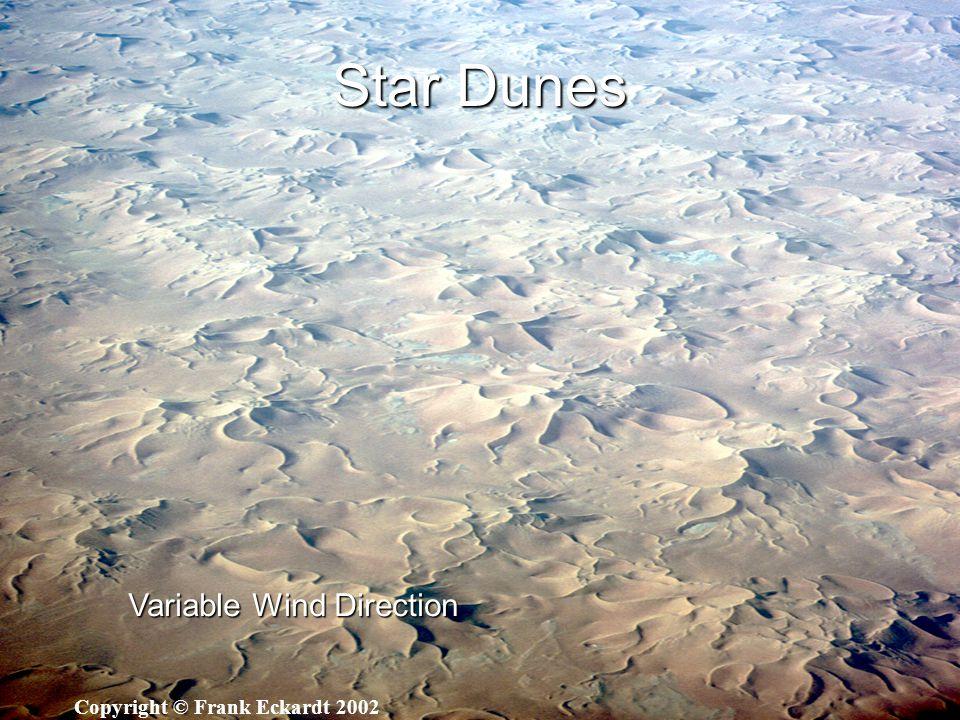 Star Dunes Variable Wind Direction Copyright © Frank Eckardt 2002
