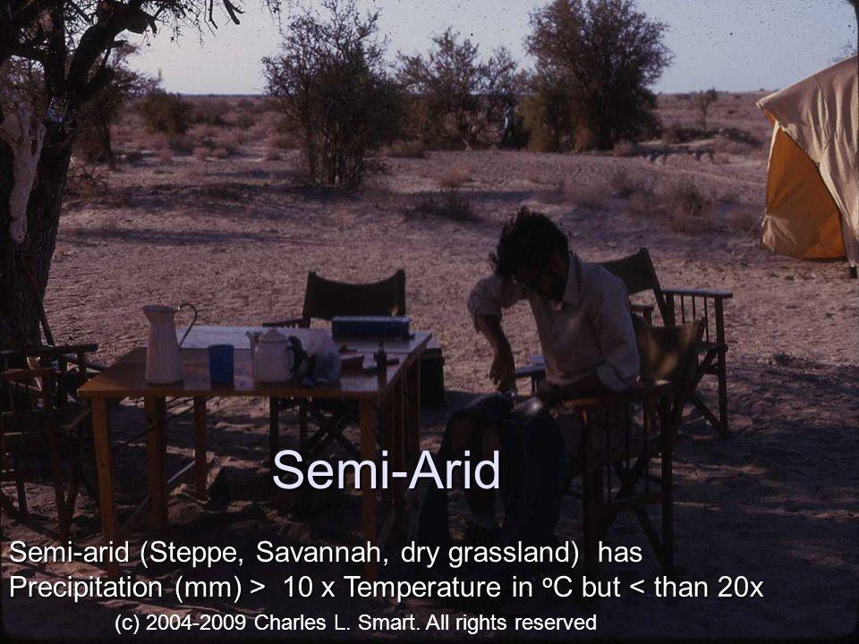 Semi-Arid Semi-arid (Steppe, Savannah, dry grassland) has