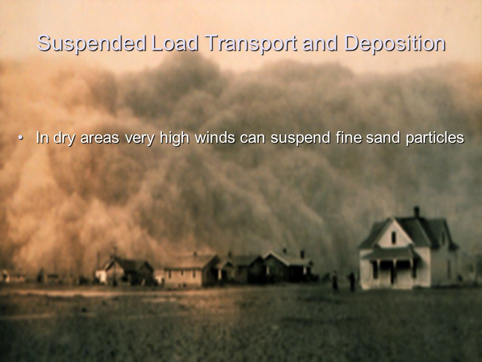 Suspended Load Transport and Deposition