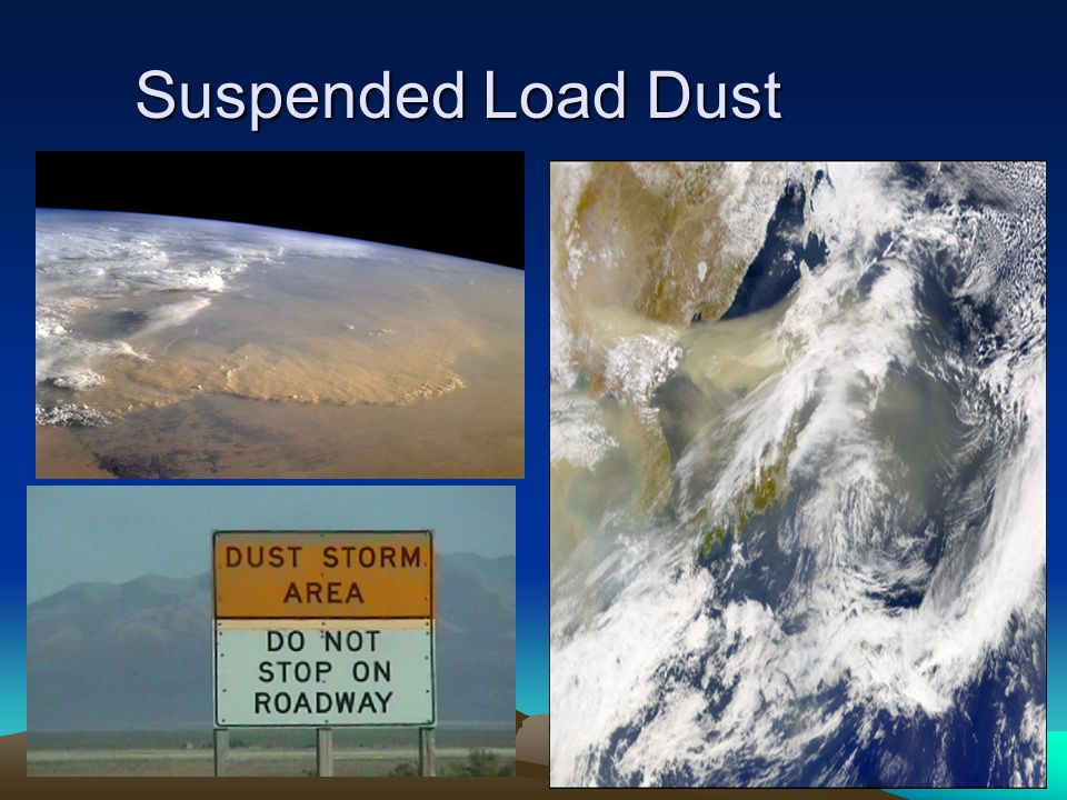 ESCI 307, Fall 2003, Lecture 14 Suspended Load Dust
