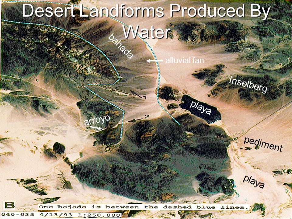 Desert Landforms Produced By Water