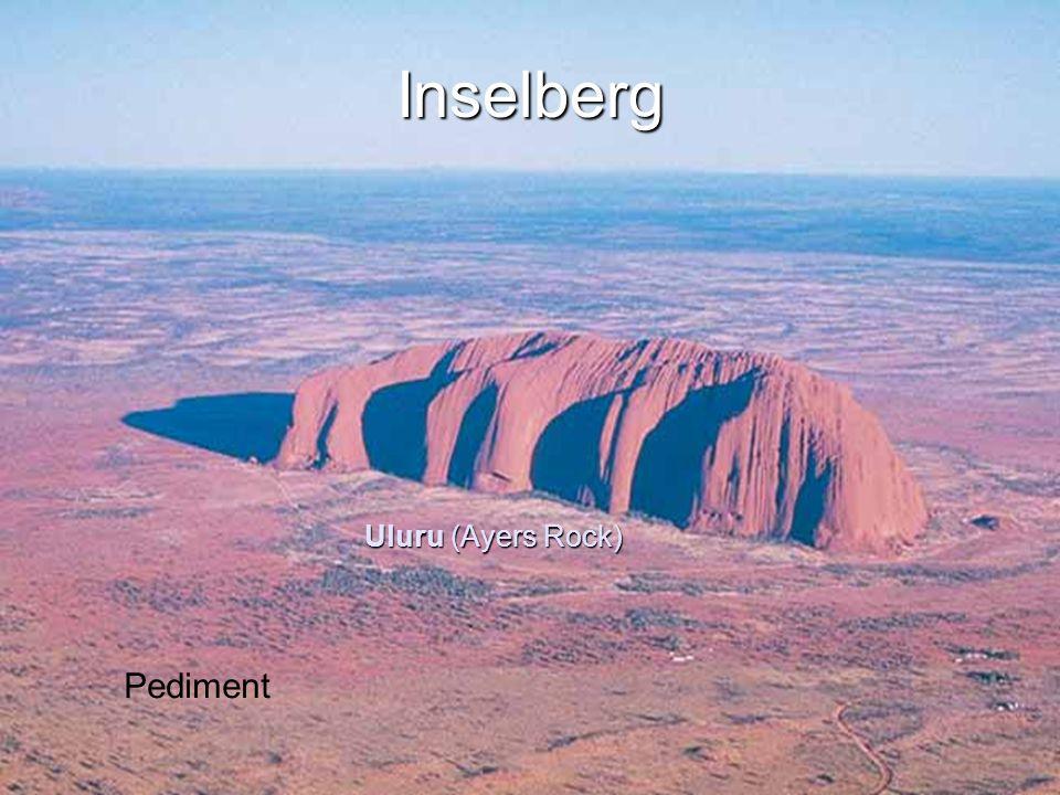 ESCI 307, Fall 2003, Lecture 14 Inselberg Uluru (Ayers Rock) Pediment