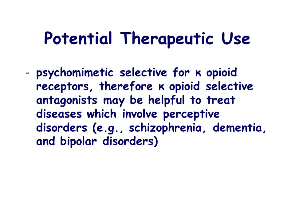Potential Therapeutic Use