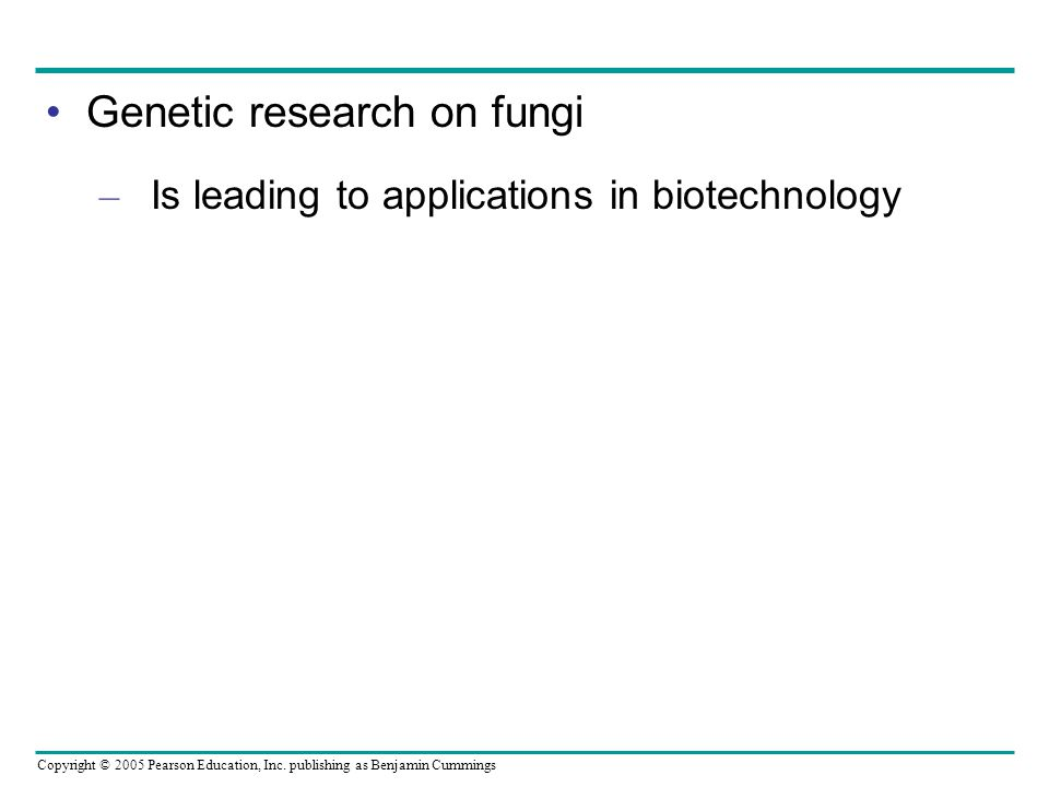 Genetic research on fungi