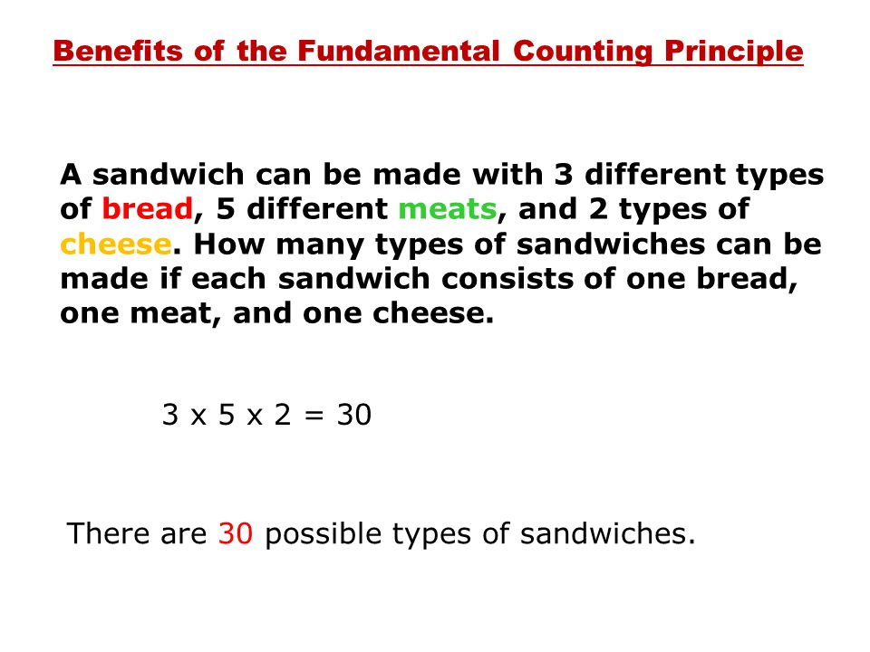 Benefits of the Fundamental Counting Principle