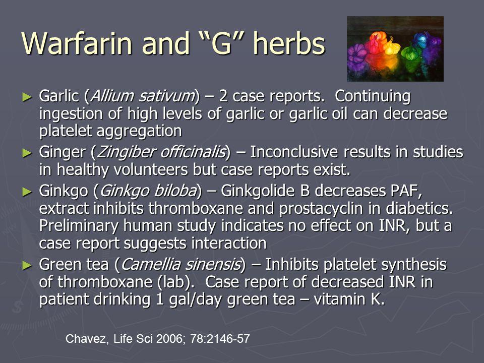 Warfarin and G herbs