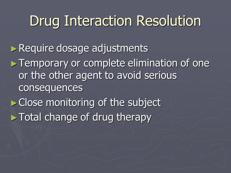Drug Interaction Resolution