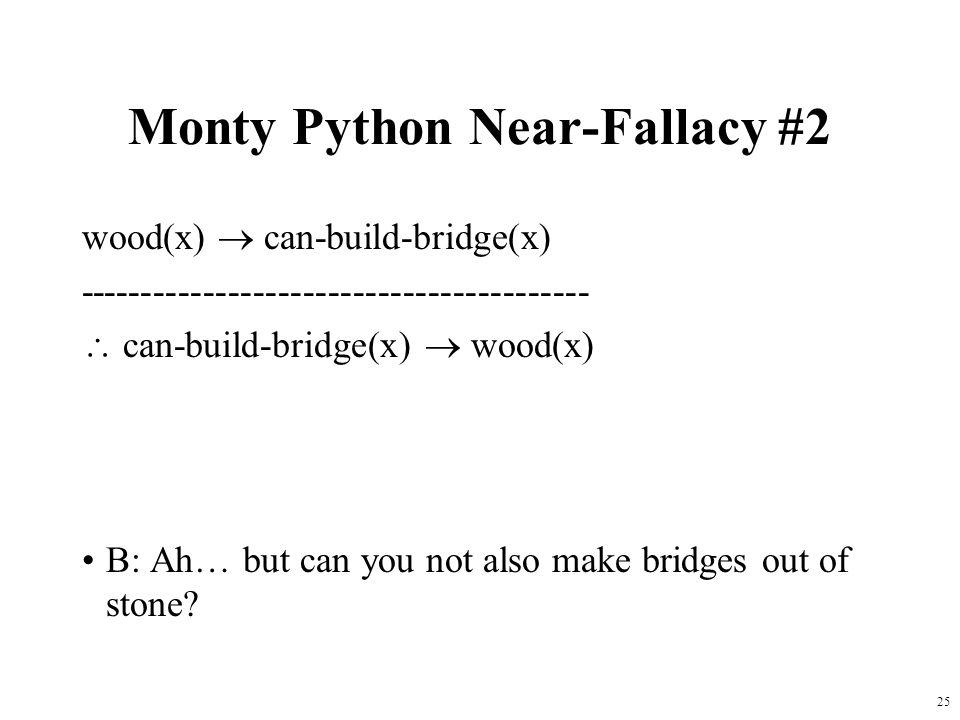 Monty Python Near-Fallacy #2