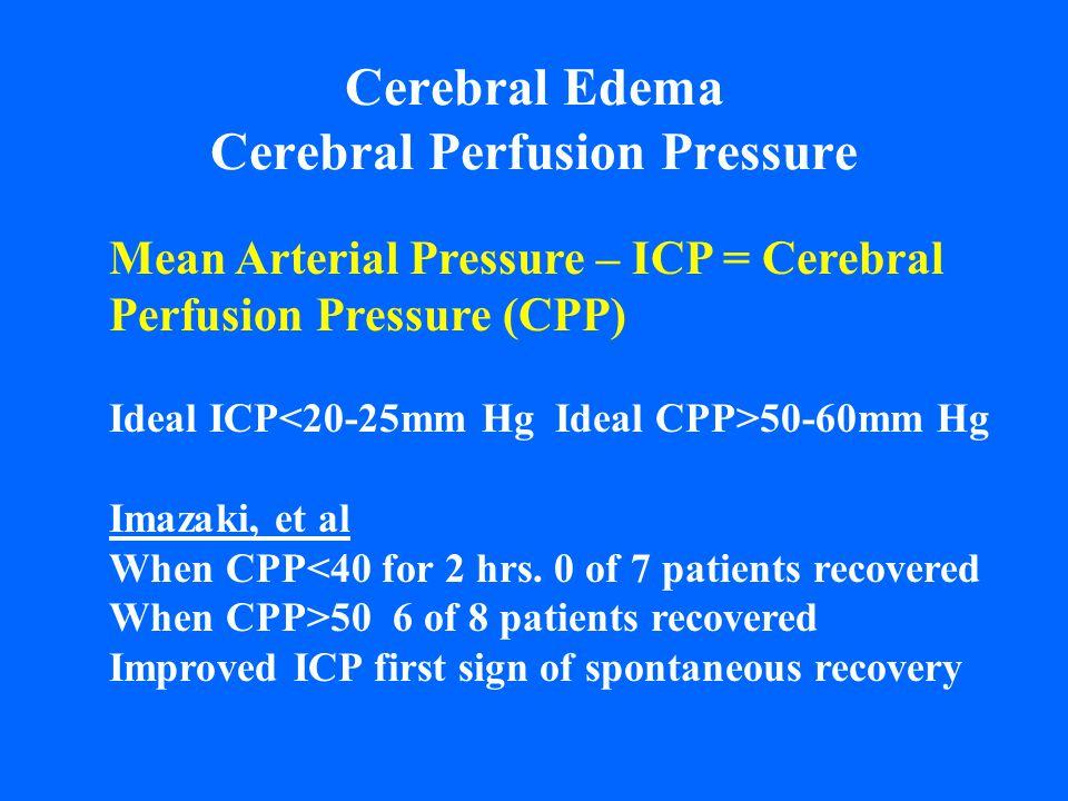 Cerebral Edema Cerebral Perfusion Pressure