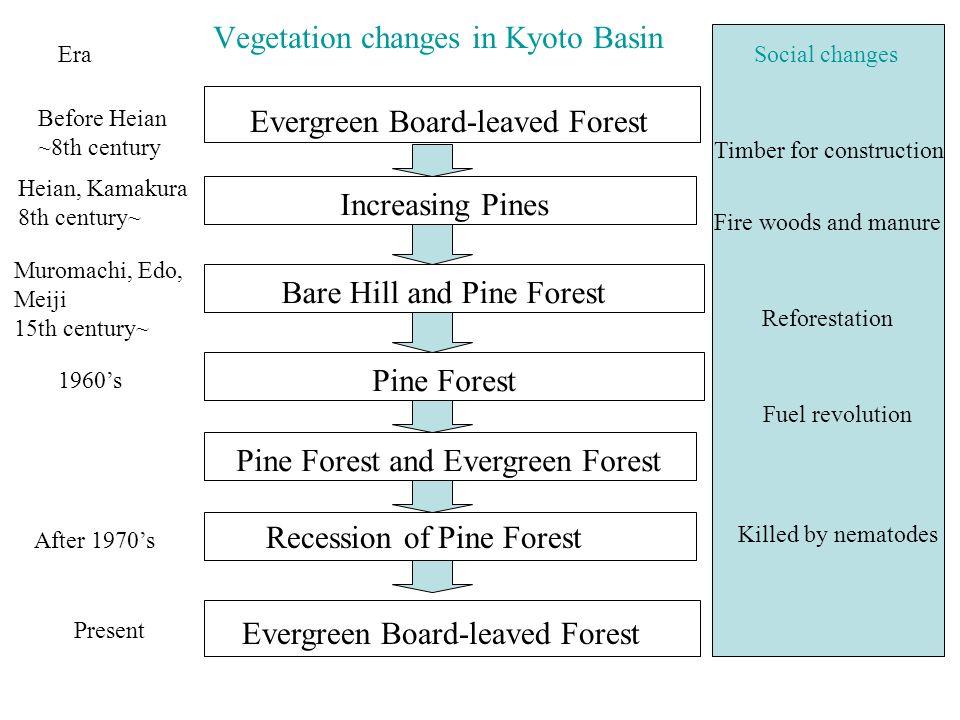 Vegetation changes in Kyoto Basin