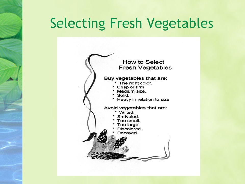Selecting Fresh Vegetables
