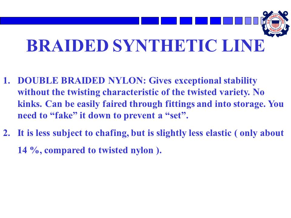 BRAIDED SYNTHETIC LINE