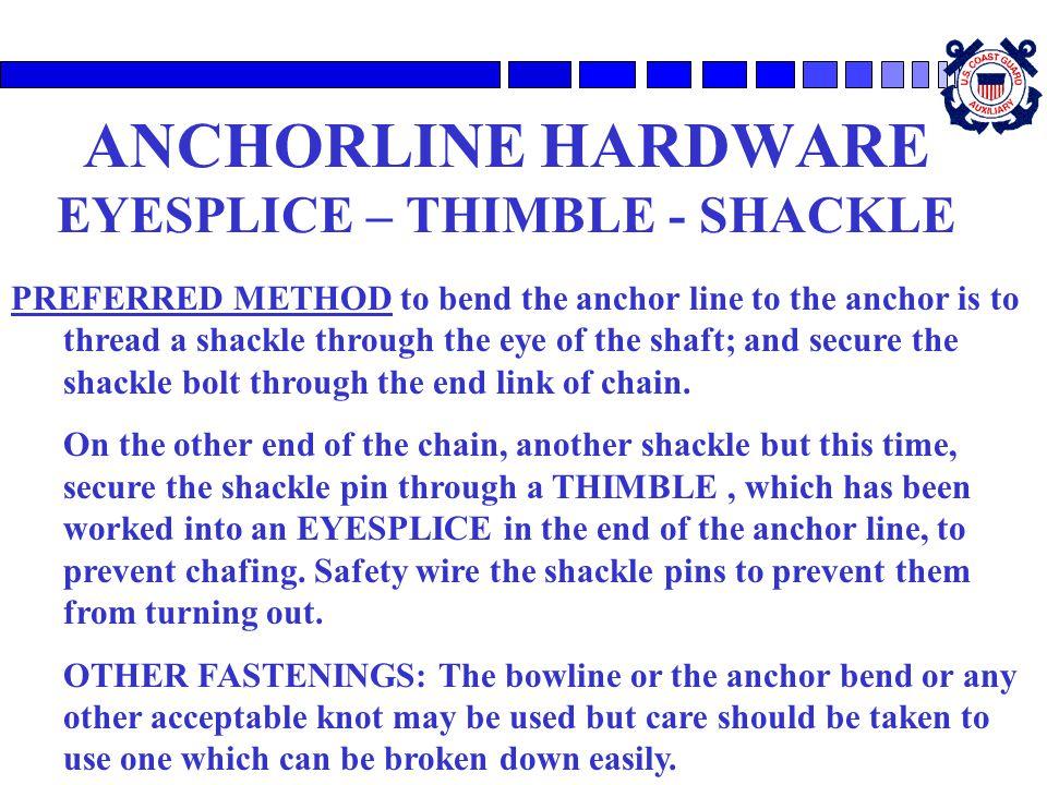 ANCHORLINE HARDWARE EYESPLICE – THIMBLE - SHACKLE