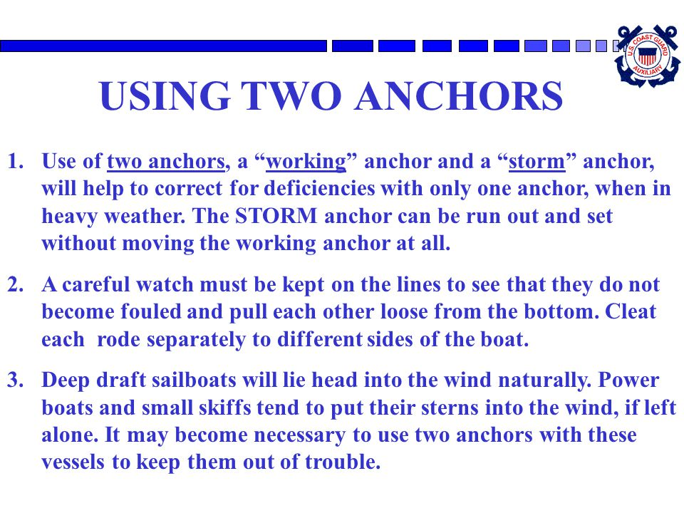 USING TWO ANCHORS