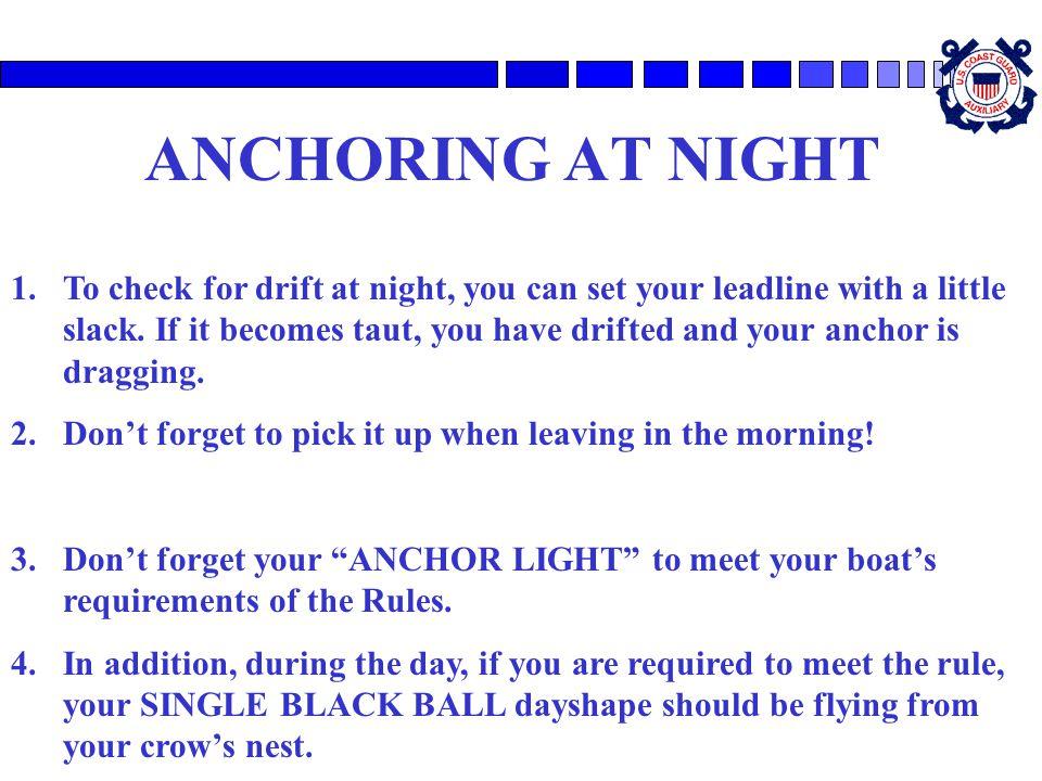 ANCHORING AT NIGHT
