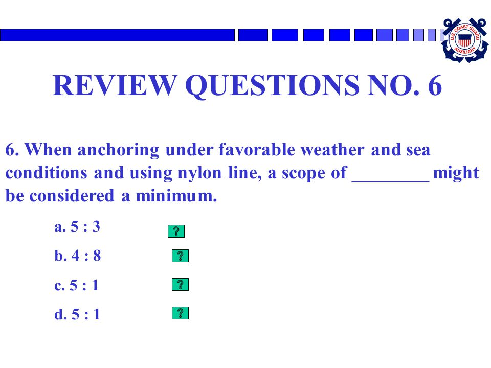 REVIEW QUESTIONS NO. 6