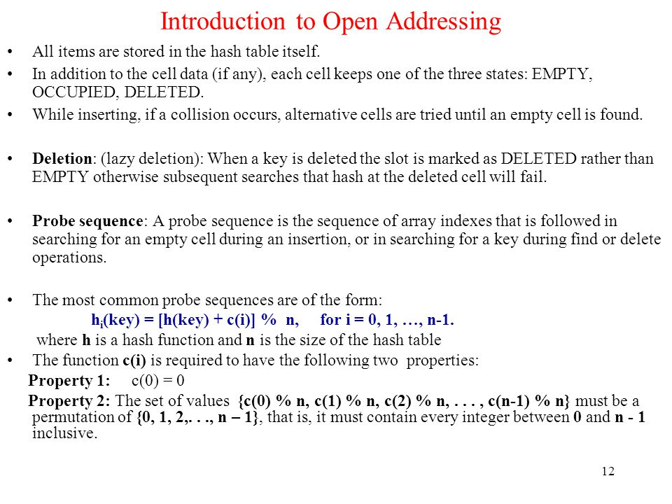 Introduction to Open Addressing