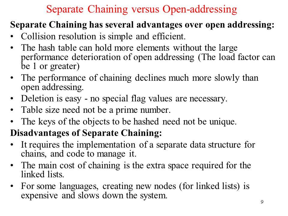 Separate Chaining versus Open-addressing