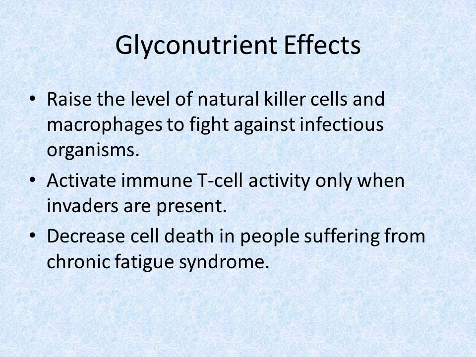 Glyconutrient Effects