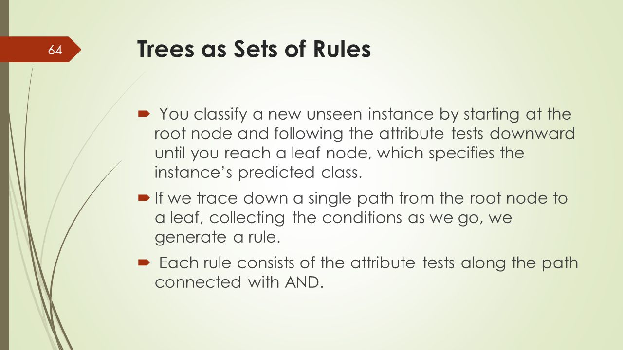 Trees as Sets of Rules