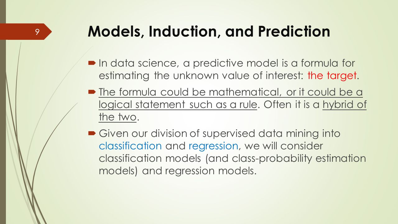 Models, Induction, and Prediction